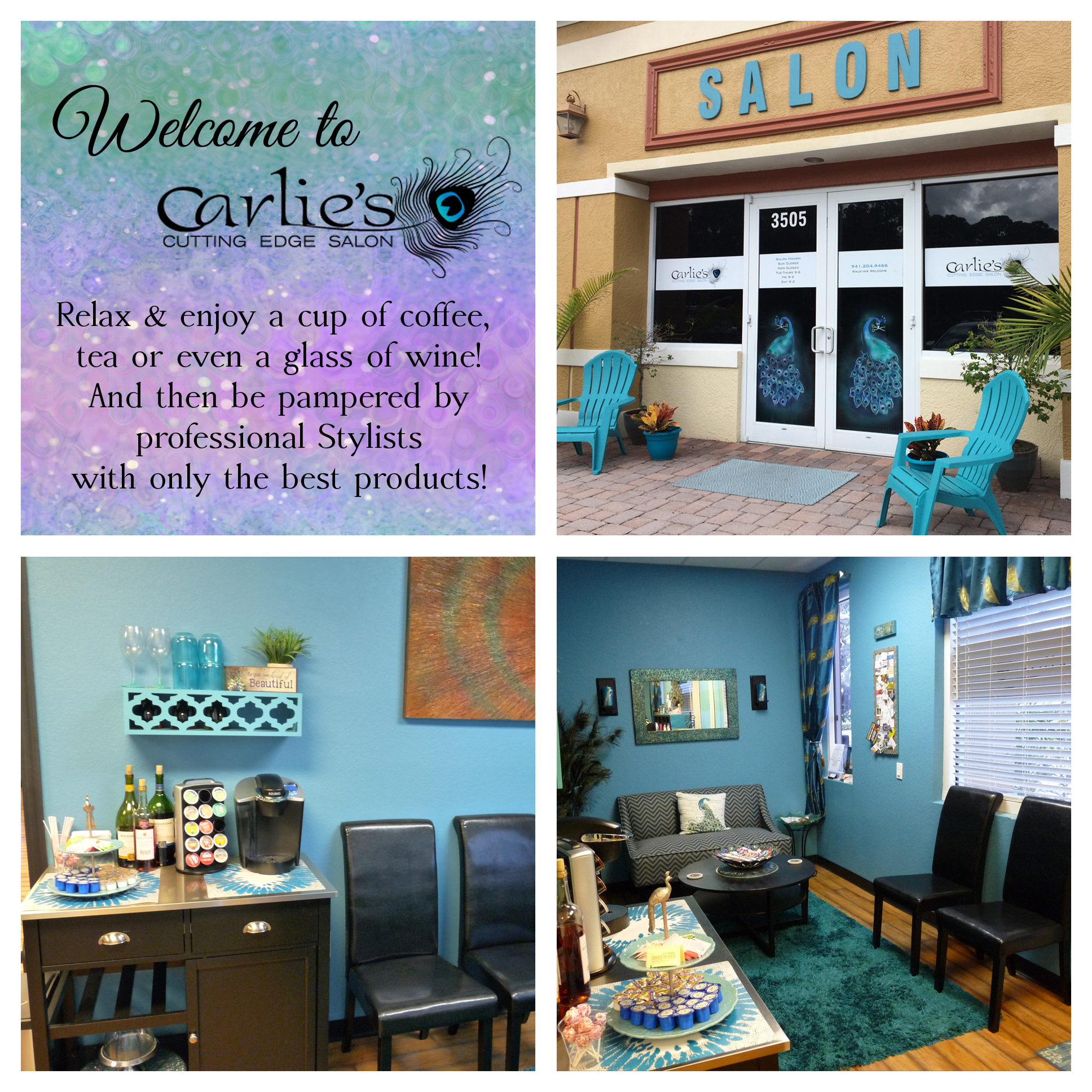 Friendly professional salon carlie 39 s cutting edge salon for A cutting edge salon