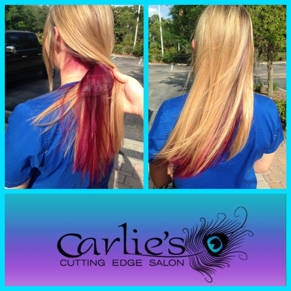 Ready for some fun color carlie 39 s cutting edge salon for A cutting edge salon