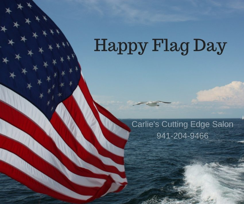 Happy flag day carlie 39 s cutting edge salon spa for A cutting edge salon